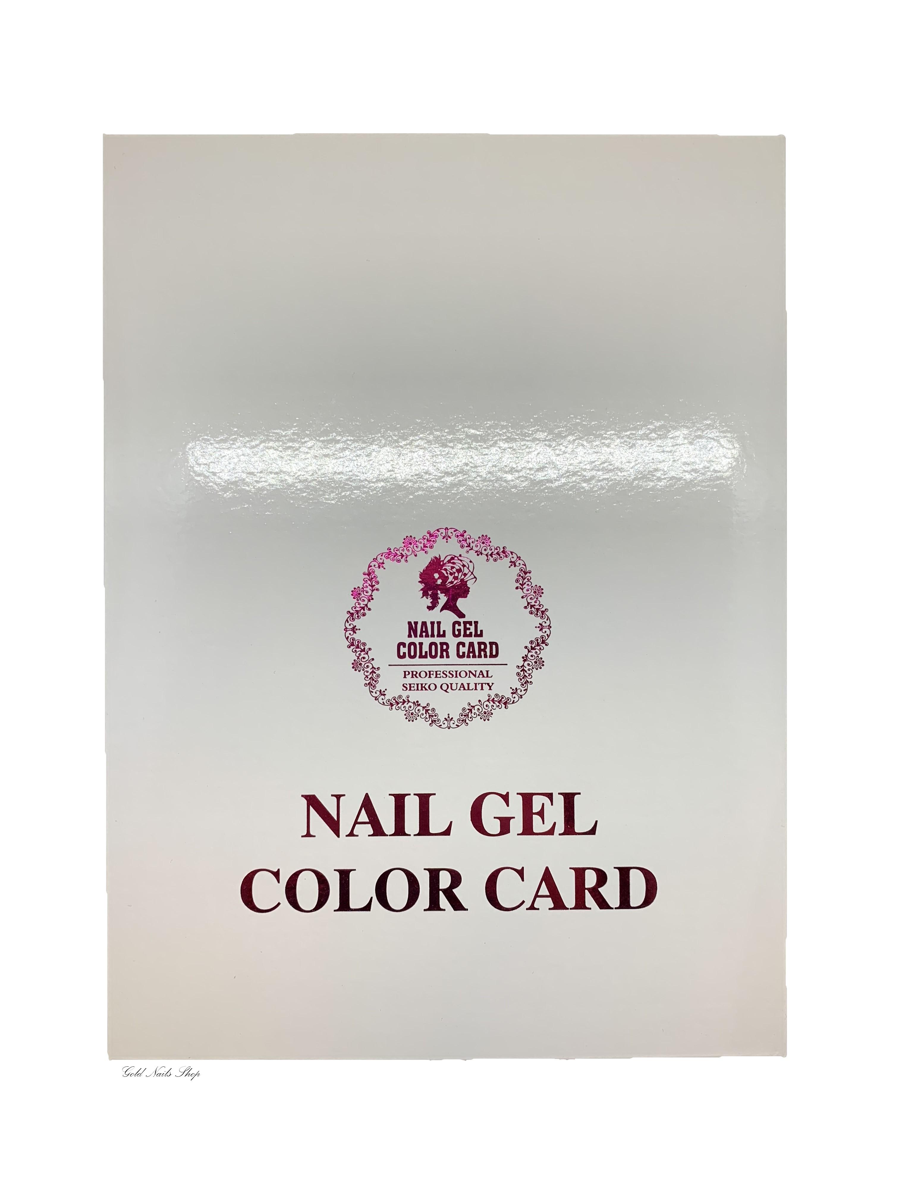 Nail Gel Color Card glatt